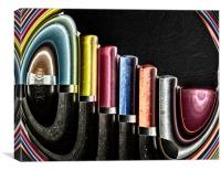 Coloured pencils, Canvas Print