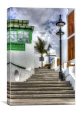 Playa Blanca Steps, Canvas Print