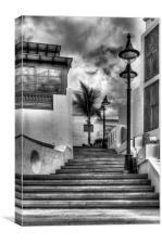 Playa Blanca Steps, Canvas Print