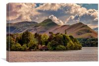 Across The Lake To Catbells, Canvas Print