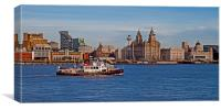Royal Iris on the Mersey, Canvas Print
