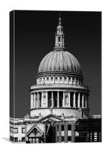 St Pauls in Black & White, Canvas Print