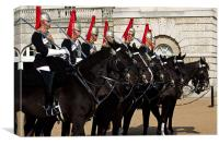 Household Cavalry, the Blues and Royals on Parade , Canvas Print