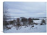 Derwent Reservoir In The Snow, Canvas Print
