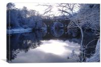 River Wear in winter, Canvas Print