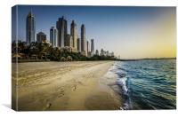 Towards Dubai Marina, Canvas Print