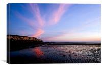 Hunstanton Cliffs at sunset, Canvas Print