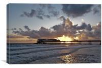 Cromer Pier Sunrise, Canvas Print