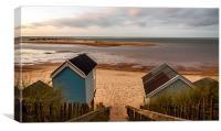 Huts Wells Beach, Canvas Print