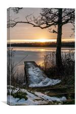 Sunset Rollesby Broad, Canvas Print