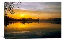 Whitlingham Sunrise, Canvas Print