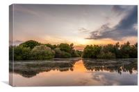Hollow Ponds Sunset, Canvas Print