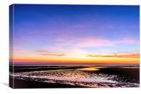 Sunset North Norfolk Coast, Canvas Print