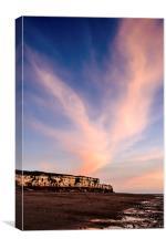 Sunset Hunstanton Cliffs, Canvas Print