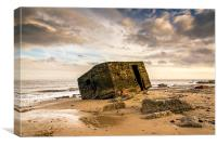 The Pill Box Caister Beach, Canvas Print