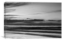 Twilight on Mundsley Beach , Canvas Print