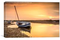 Burnham Overy Staithe Sunset, Canvas Print