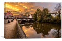 Norwich River Sunset, Canvas Print