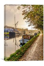 Busy Canal , Canvas Print