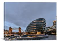 City Hall London, Canvas Print