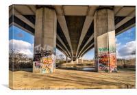 A 47 Overpass, Canvas Print