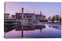 Guildhall Twilight Reflections, Canvas Print