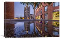 St peter Mancroft Reflections, Canvas Print
