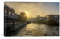 New Mills Sunrise, Canvas Print