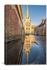 Norwich Cathedral Mirror, Canvas Print