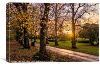 Autumn Park Scene, Canvas Print