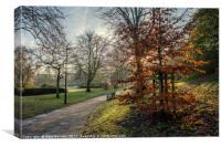 Autumn in the Park, Canvas Print