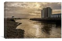 The Mouth of the Tawe, Canvas Print