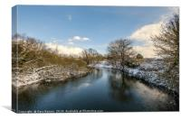 Winter on the Wensum, Canvas Print