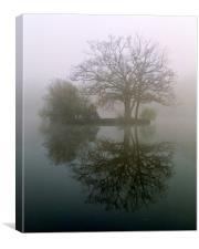 Three tree island, Canvas Print