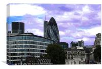 London Cityscape with Gherkin, Canvas Print