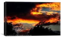 Burning Red Sky, Canvas Print