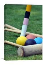 Croquet on the Lawn, Canvas Print