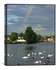 Rainbow over the Thames, Canvas Print