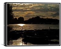 Thames Sunset, Canvas Print
