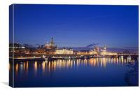 Dresden Skyline, Canvas Print