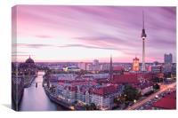Berlin skyline, Canvas Print