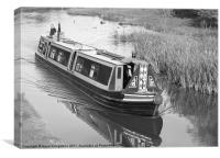narrow boat on Macclesfield canal, Canvas Print