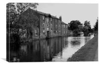 old canalside mill, Canvas Print