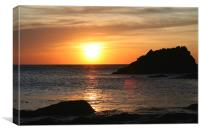 sunset on lleyn peninsula, Canvas Print