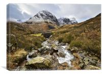 Three Sisters of Glencoe, Canvas Print