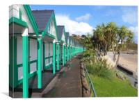 Beach Huts at Langland Bay., Canvas Print
