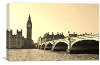 The Houses of Parliament, Big Ben and Westminster, Canvas Print