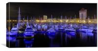 Boats and Reflections., Canvas Print