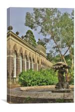 The Fountain at The Orangery., Canvas Print