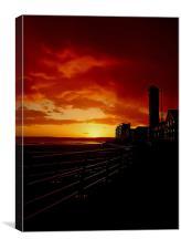 Swansea Bay Sunset., Canvas Print
